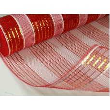 Large Roll of Red and White Geo Mesh